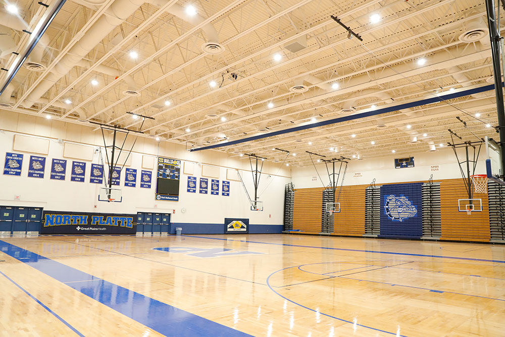 north platte high school, nppsd, bulldogs, indoor courts, volleyball, basketball, gymnasium, gym, north platte, nebraska, ne, north platte area sports commission, play north platte, facility