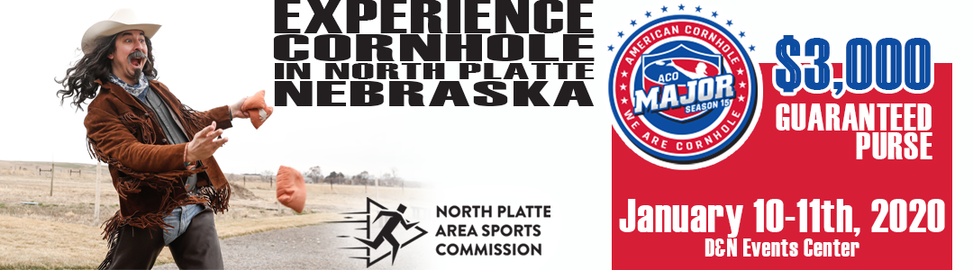 cornhole, bag toss, north platte, ne, nebraska, buffalo bill, aco, american cornhole, major, tournament, north platte area sports commission, play north platte, npasc