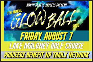 NP Jaycees, Jaycees, Glowball, Lake Maloney Golf, Golf, North PLatte Trails, Trails, NP Trails, Fundraiser, North Platte, NE, Nebraska