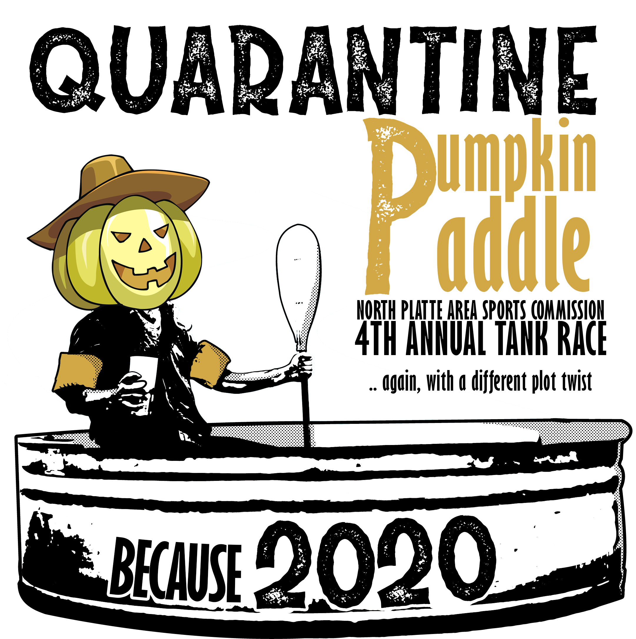 Quarantine, pumpkin paddle, tank race, stock tank, covid, 2020, north platte area sports commission, play north platte, 4th annual tank race, north platte, nebraska, dusty trails, outfitter, platte river, ne