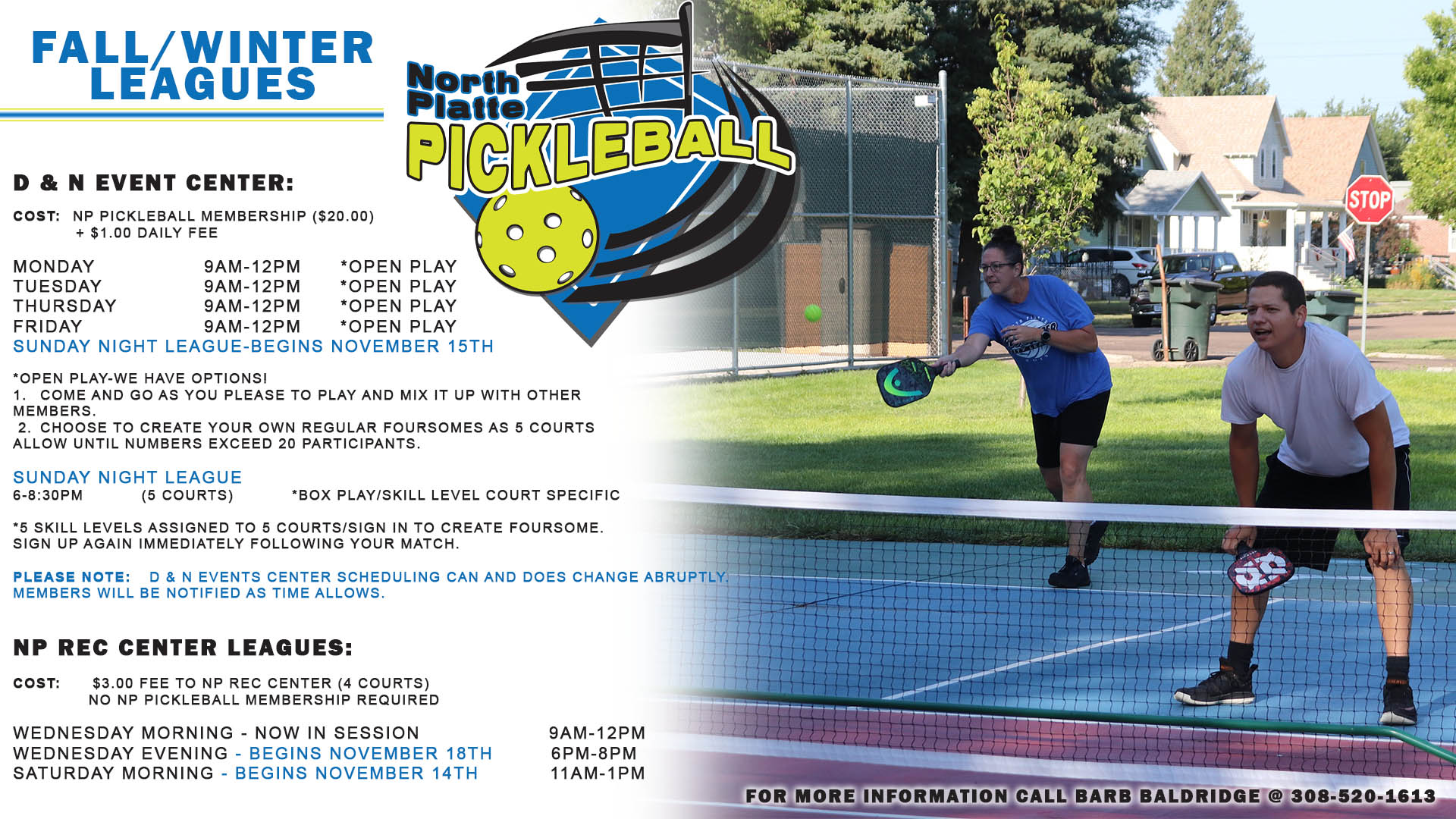 fall, winter, pickleball, league, indoor, tennis, north platte pickleball, usa pickleball, play north platte, north platte area sports commission, north platte, nebraska, ne