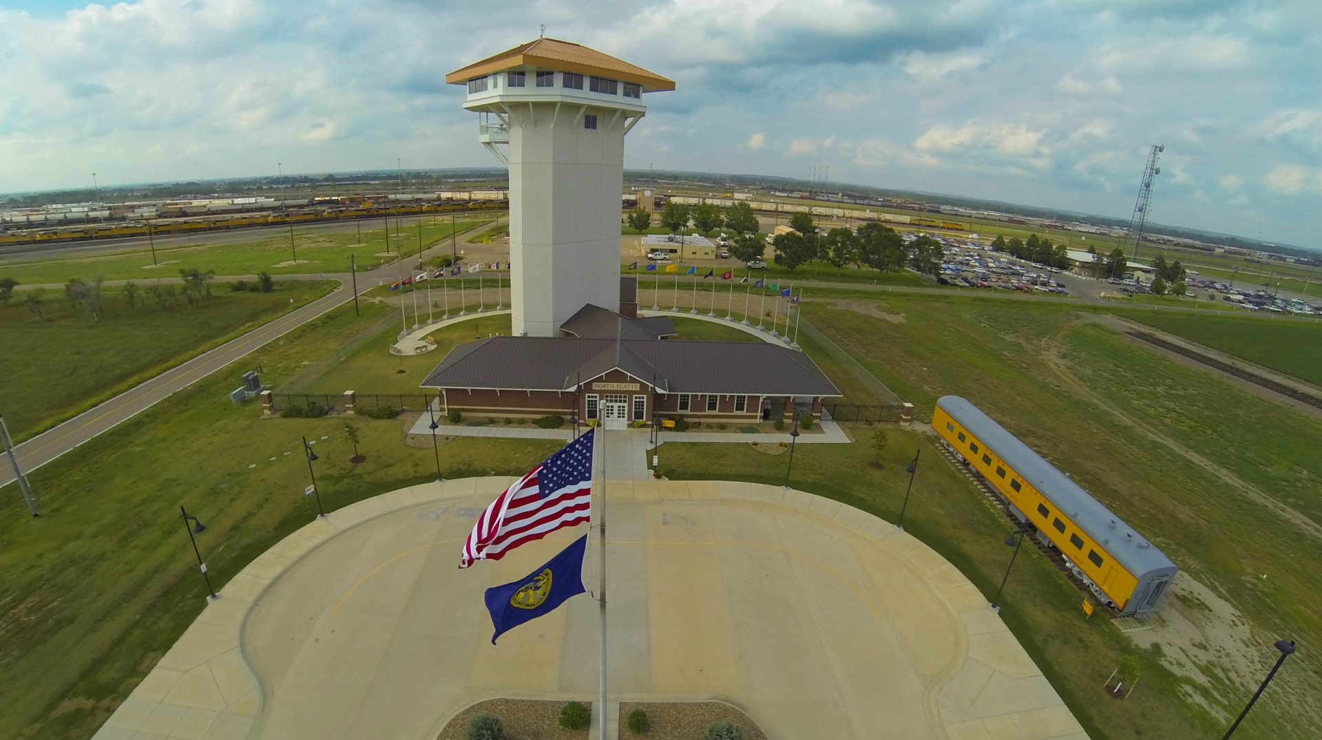 golden spike tower, union pacific railroad, bailey yards, trains, visit north platte, north platte, nebraska, ne